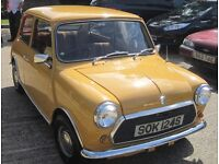 Classic Mini 998cc 1977. 1 yr Mot, Tax exempt next year