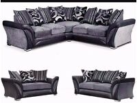 "Brand New High Quality Shannon Corner or 3+2 Seater Sofa Set -- ""Get It Today"""