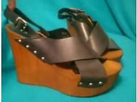 Aldo leather Wedges Sandals