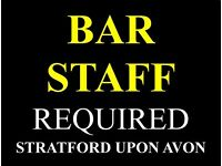 BAR STAFF REQUIRED - Full and Part-time