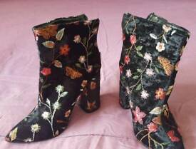 Ladies embroidered boots