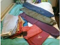 Large bundle of boys clothes 9-11