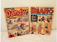Beano And Dandy Comic Wall Art Canvas Picture x2 - 33.5cm x 46cm x 2cm deep.