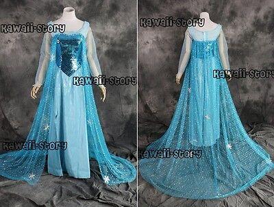 H-3260 Gr. M Elsa Eiskönigin Snow Queen Cosplay Kostüm costume kleid (Snow Queen Kleid Kostüm)