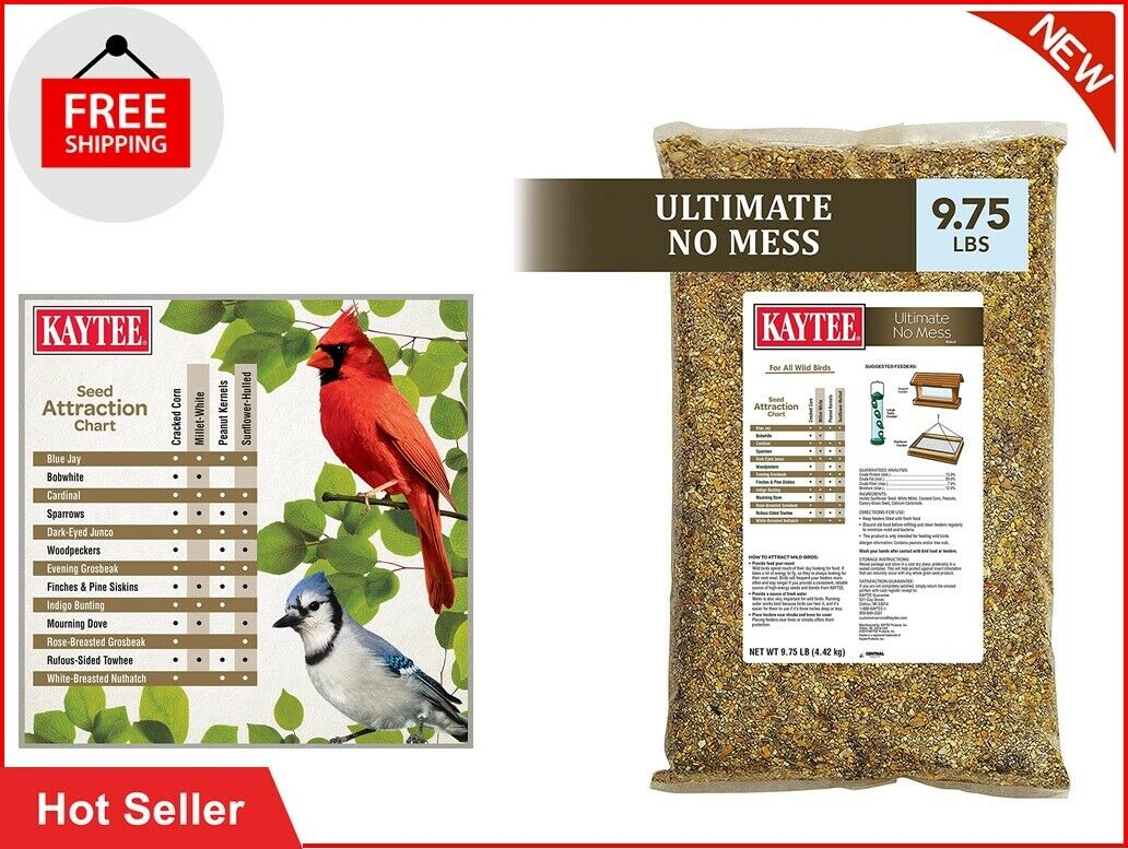Kaytee Ultimate No Mess Wild Bird Food 9.75 Lb - $23.99