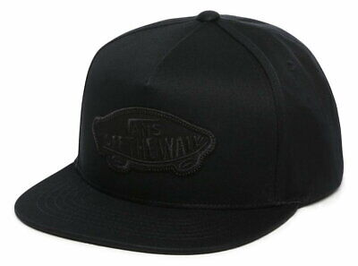 VANS Classic Patch Snapback Cap In Black/Black