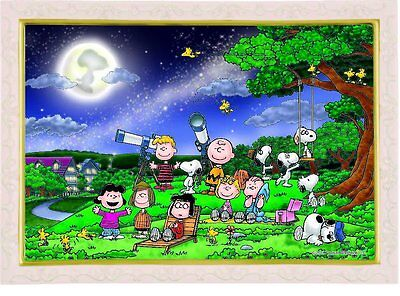 Snoopy Jigsaw Puzzle 11-499 Under the Full Moon 1000 Pieces Japan New