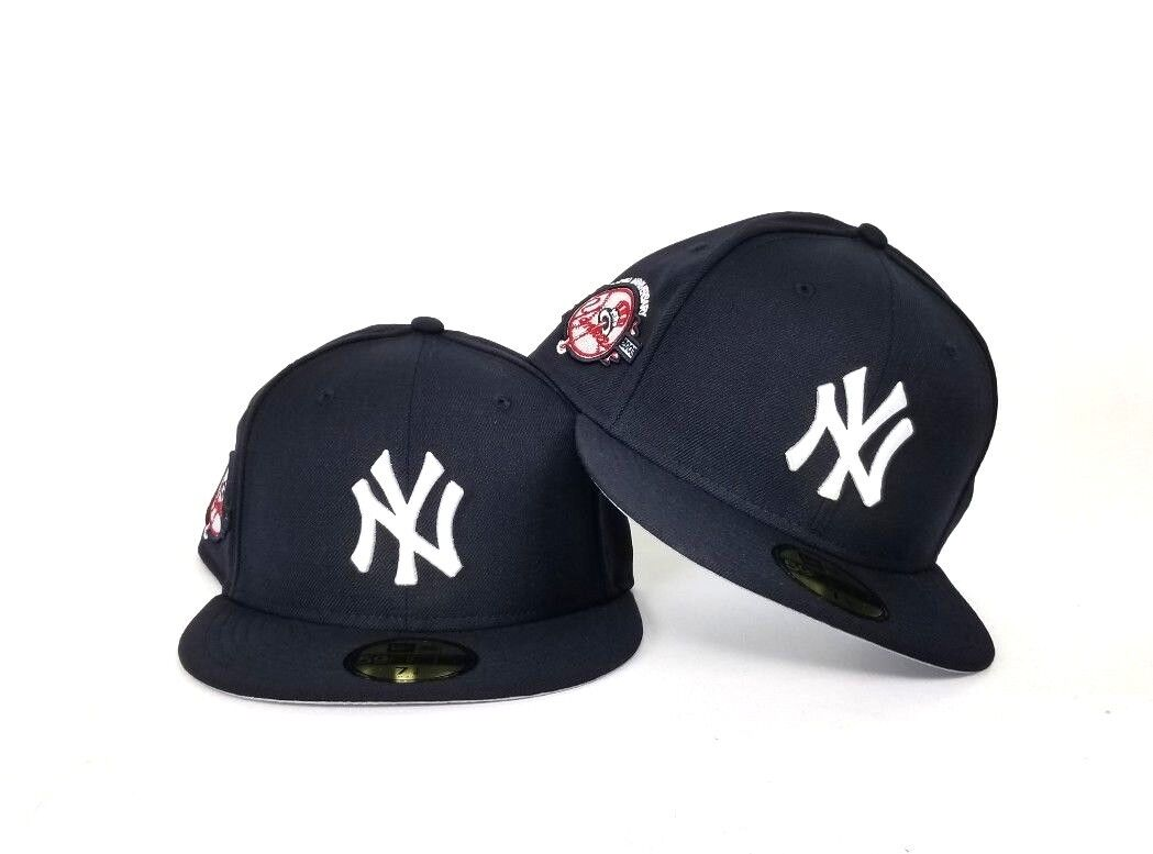 New Era New York Yankees 100th Anniversary Patch 59Fifty Fitted Hat Navy 24ce595b8525