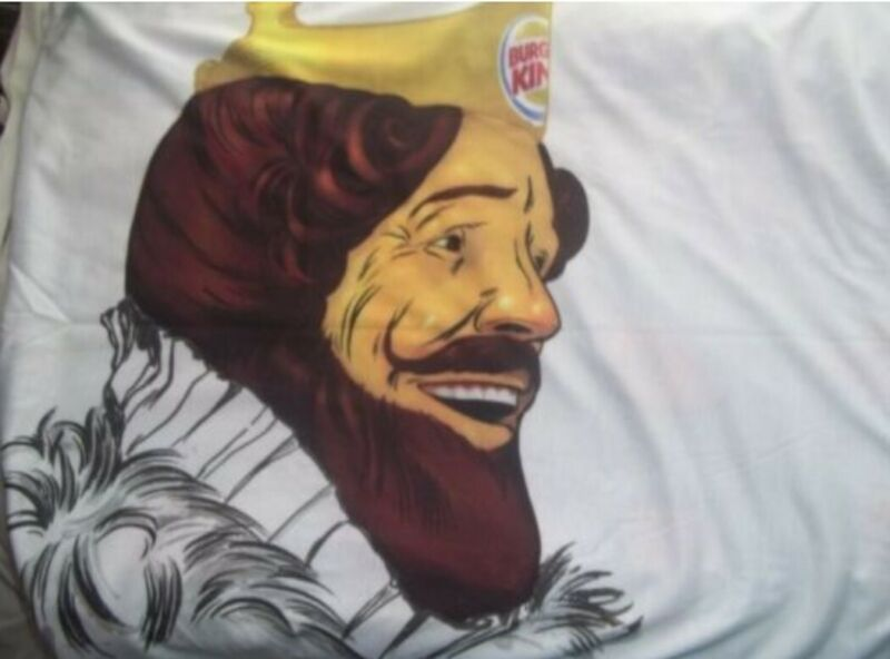 BURGER KING Advertising Pillow Case, Wake Up Next to the KING NEW