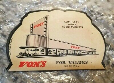 Vintage Von's Complete Super Food Markets Advertising Sewing Kit - Germany
