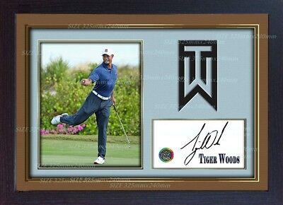 3c5d85a3255 Tiger Woods signed autograph photo print Legend Golf Memorabilia Framed