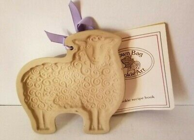 Vintage BROWN BAG COOKIE MOLD Easter WOOLY LAMB 1983 Hill Design Retired Sheep