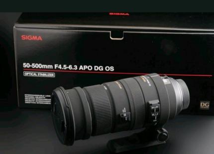 Sigma 50-500mm F4.5-6.3 Canon mount