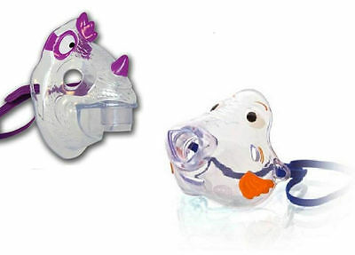 Bubbles the Fish + Nic the Dragon Pediatric Mask for Child`s Nebulizer NEW