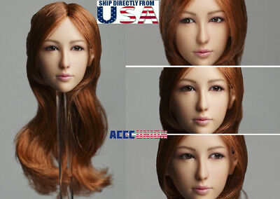 "1//6 female head sculpt for 12/"" figure hot toys phicen verycool GC020 B ❶ USA❶"