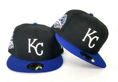 New Era Black Royal Blue Viosr Kansas City Royals 59Fifty KC Fitted hat  - Kc Royals Hats