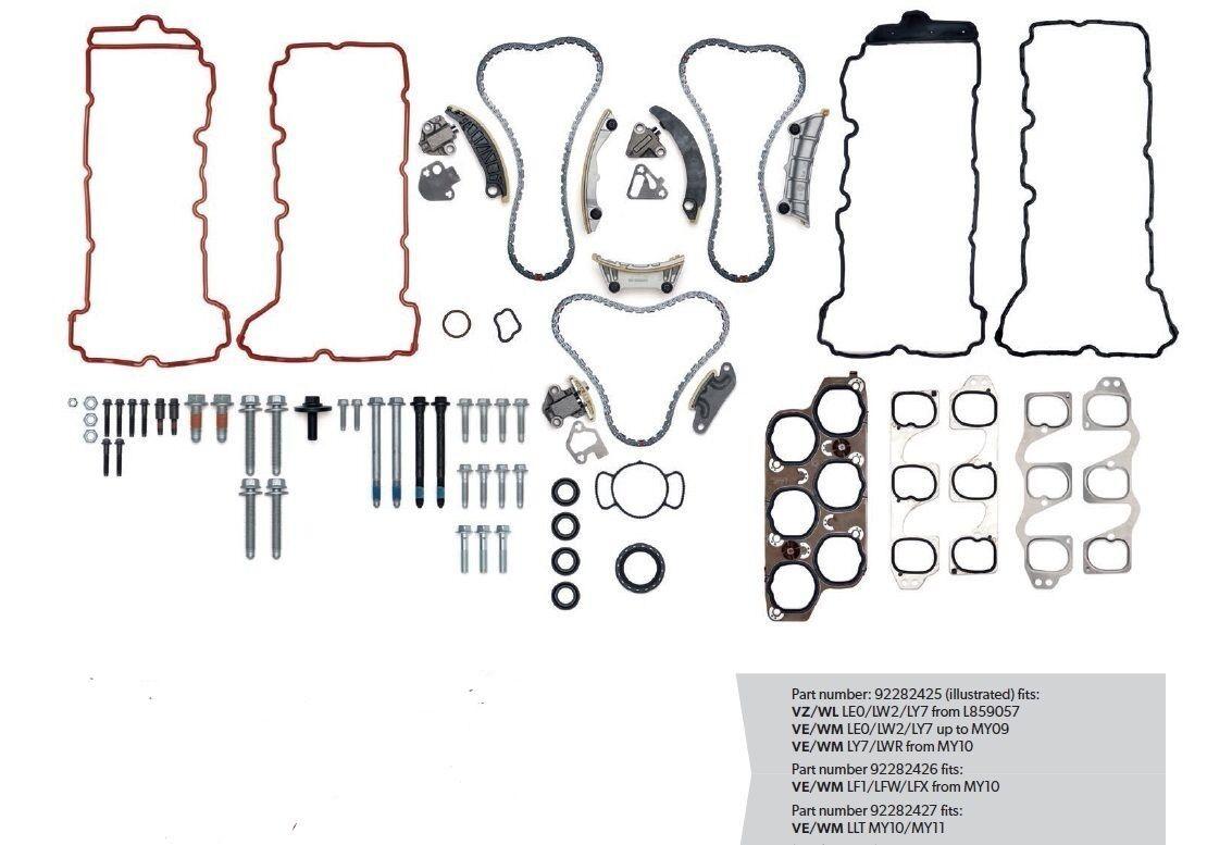 genuine gm holden commodore v6 complete timing chain kit vz   ve   wm 92282425  6  7