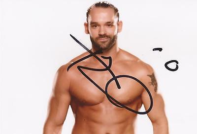 WWE WRESTLING: TYE DILLINGER SIGNED 6x4 PORTRAIT PHOTO+COA