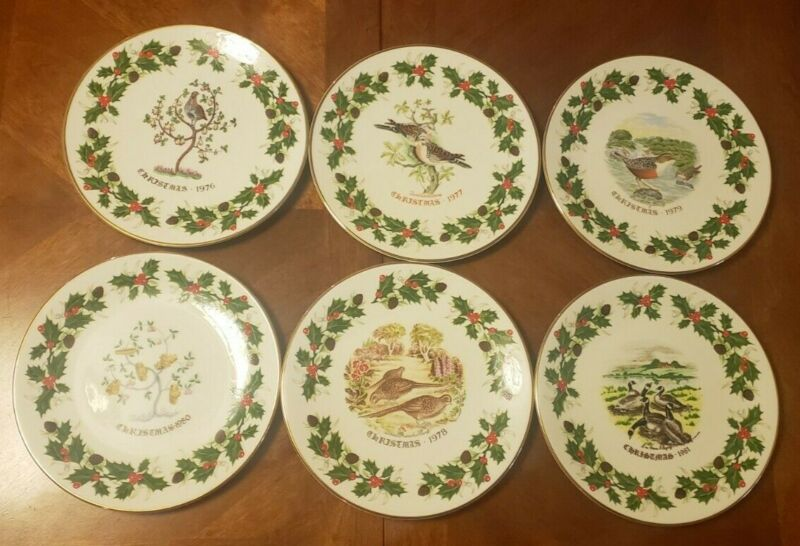 Royal Grafton Twelve Days of Christmas Plates  ~ SET OF 6 ~ Made In England