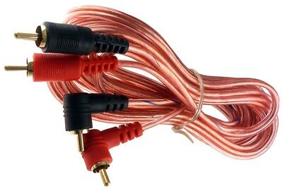 (17 ft foot RIGHT ANGLE stereo pair shielded RCA male to male audio cable cord US)