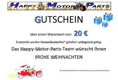 HMParts Gutschein Pit Bike  Dirt Bike ATV Ersatzteile Happymotorparts 20  EUR