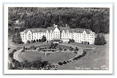 Vintage Real Photo Postcard RPPC Masonic Home Zenith WA Ellis Photo A8