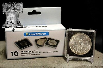 5 Morgan Silver Dollar 2x2 Coin Snap Holder Capsule 38mm LIGHTHOUSE QUADRUM Case