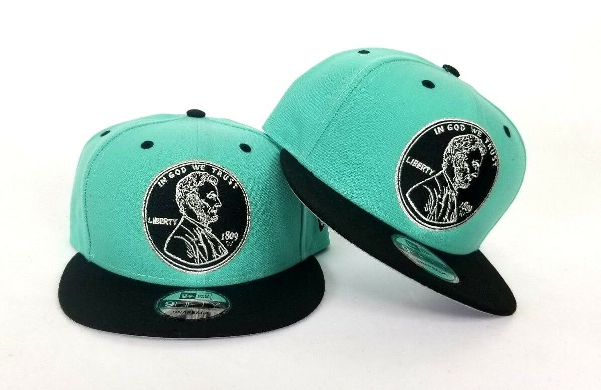 Penny Hardaway One 1 Cent Nike Foamposite Black Gold New Era 9Fifty  Snapback Hat bd3f2cda8686