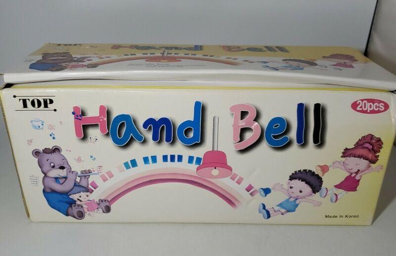 Lot Of 14 Hand Bells School House Made In Korea