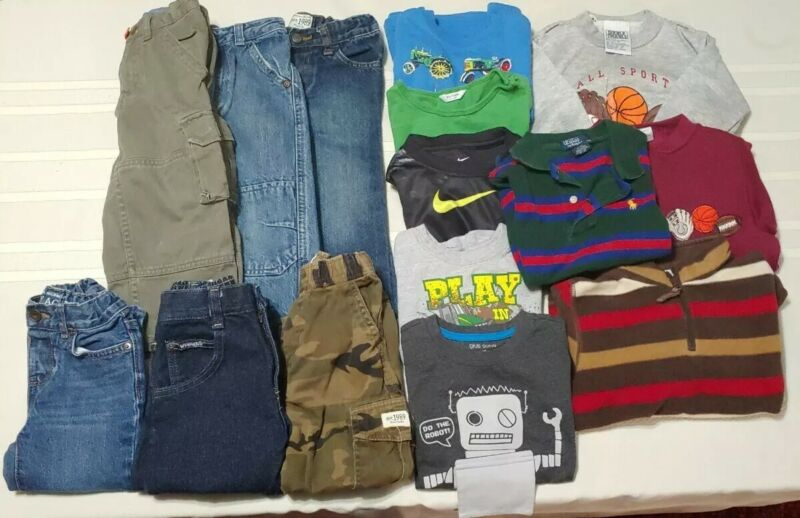 Winter Boys Play Clothing Lot of 15pcs Size 2T  Pants Tops Vest