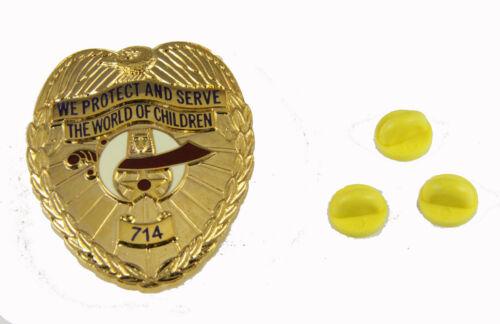 6030648 Shriner Child Care Badge 714 Protect Serve Children Shrine Road Runner