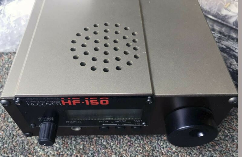 LOWE HF-150 Receiver Radio Exc brown metal