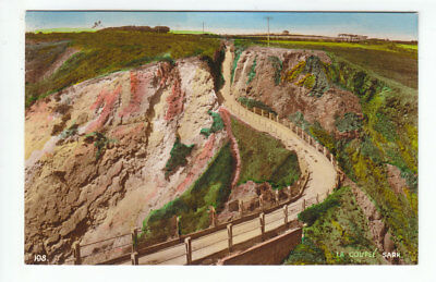 La Coupee Sark Channel Islands Norman Grut Guernesy Old Post Card Unposted
