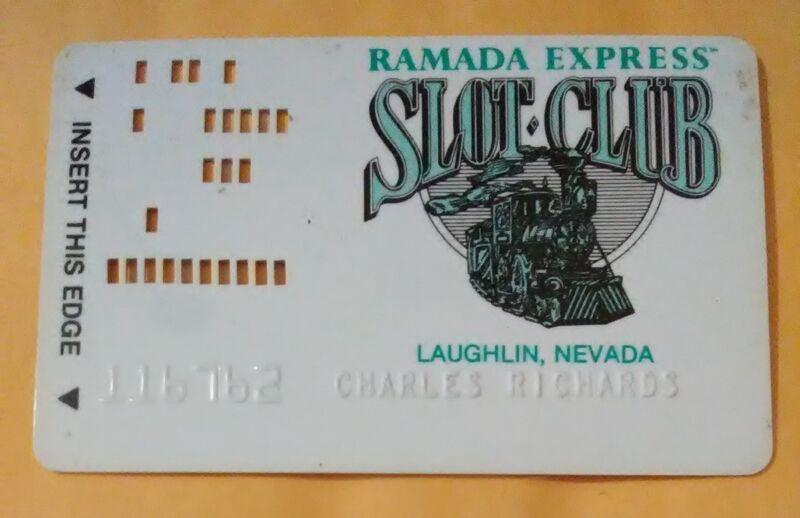 RAMADA EXPRESS CASINO LAUGHLIN, NEVADA VINTAGE SLOT CARD GREAT FOR COLLECTION!