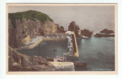 Creux Harbour Sark Channel Islands 9508 Old Post Card Unposted