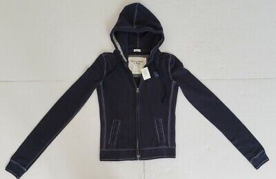 Abercrombie & Fitch FULL ZIP WOMENS STRETCH SWEAT JACKET CARDIGAN HOODED #110