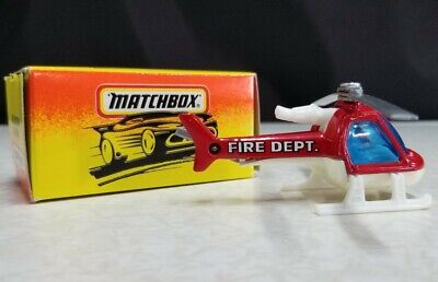 MATCHBOX FIRE DEPT HELICOPTER * GOOD USED CONDITION