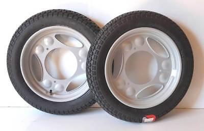 2x Rad Reifen Räder Scheibenrad Komplettrad pas f Simson Roller SR50 SR80 VRM220