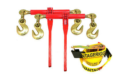 38 Transport Hauling Load Trailer Ratchet Binders Free Flat Hook Ratchet Strap