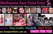 Face Painting Kids Entertainer FREE BALLOON TWISTING & GAMES Caroline Springs Melton Area Preview