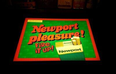 Vtg Newport Lighted Display Cigarette Advertising Light Up Sign