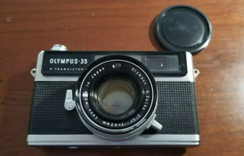 Olympus-35 LE Camera with Zuiko 1.7 42mm Lens and Case. Used Condition.