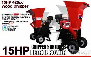 New 15HP EPA Professional Series Wood Chipper Cutter Leaf Mulcher Shredder 420CC