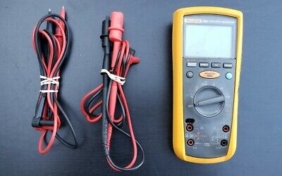 Fluke 1587 Insulation Multimeter With 1 Set Of Leads 1 Set Of Clip Leads