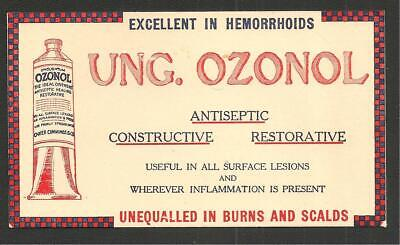 "1940s/50s Pharmaceutical Advertising Blotter ""OZONOL"""