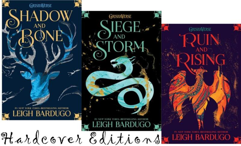 Leigh Bardugo GRISHA TRILOGY Young Adult Fantasy Series Set of HARDCOVERS 1-3
