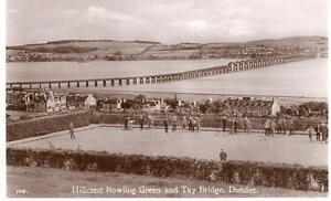 Bowls Hillcrest Bowling Green Tay Bridge Dundee unused RP old pc J B White