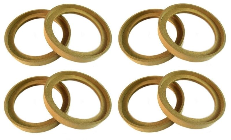 """4 Pair 6.5"""" MDF Speaker Ring Recess With Bezel Mounting Spacer RING-6.5BZ"""