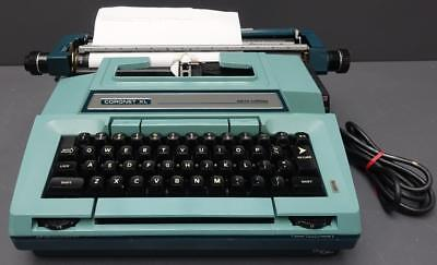 Smith Corona Coronet Xl Coronamatic Portable Electric Turquoise Blue Typewriter