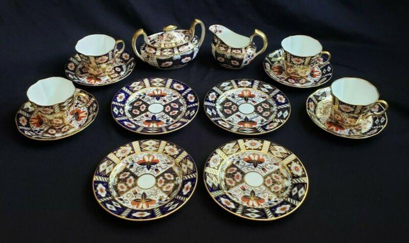 AYNSLEY IMARI 5500 Tea Set, Cobalt/Orange/Gold, Vintage/Antique.